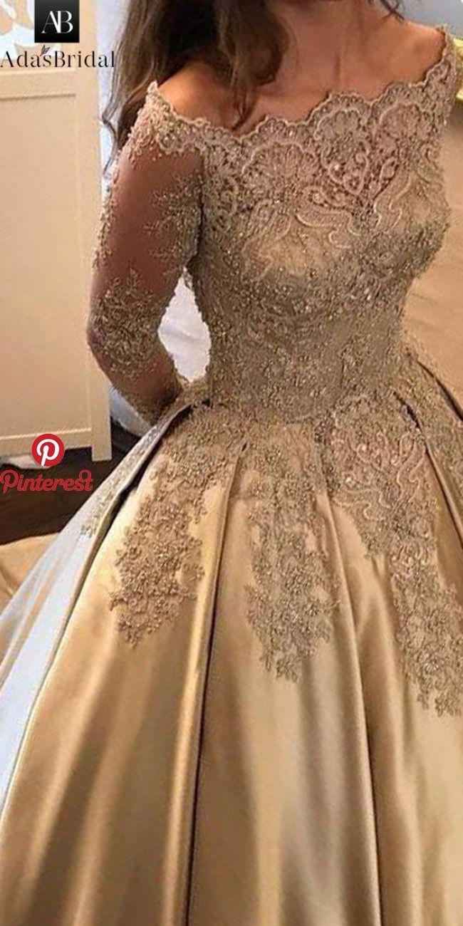 Satin Wedding Dresses   Gowns, Evening dresses, Ball gowns evening
