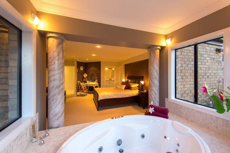 The indoor spa at night | Lifestyle Property For Sale | Beechworth Vic, Australia