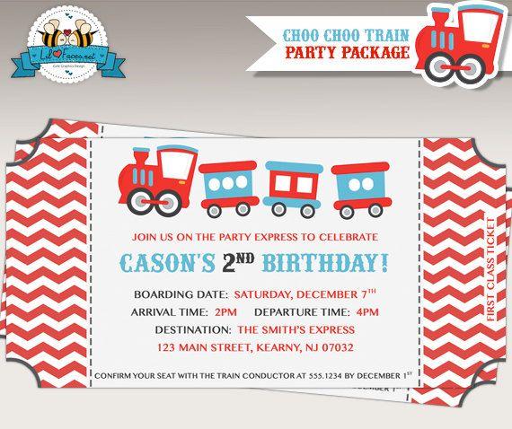 67 best ChooChoo Train Birthday Party images – Choo Choo Train Birthday Invitations