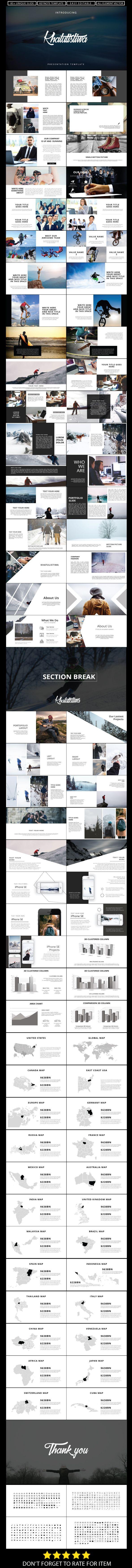 Poster design templates powerpoint - Khatulistiwa Keynote Presentation Template Business Corporate Creative Ecommerce
