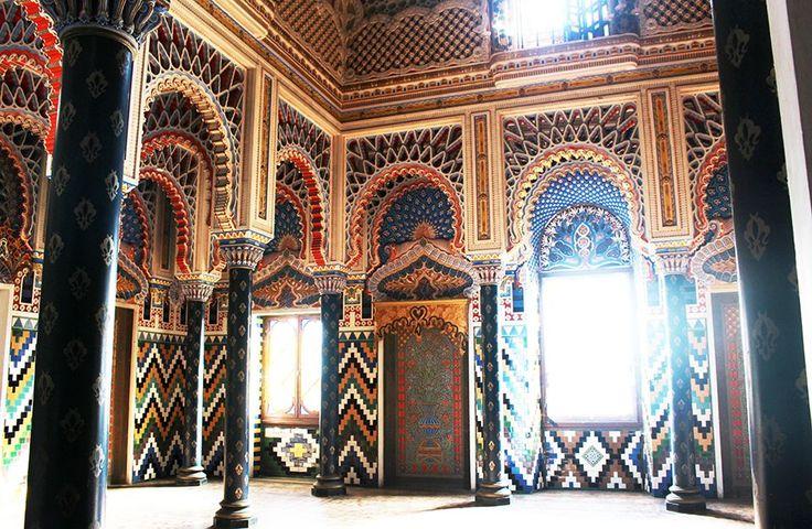 sala dei gigli castello di sammezzano