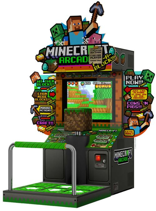 tubbypaws:  i saw a minecraft arcade machine but it was only a...
