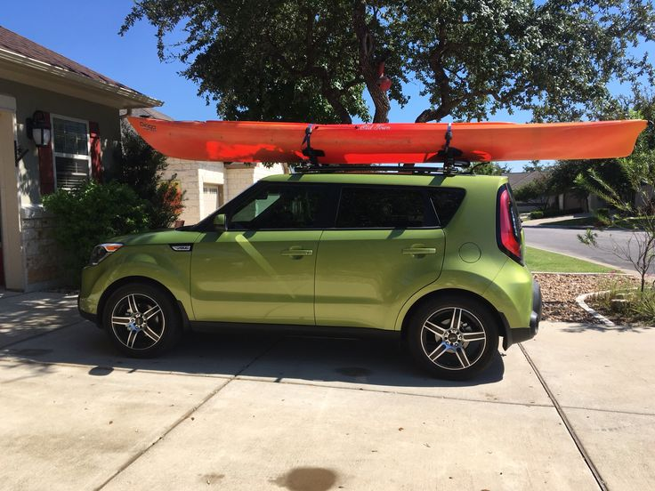 2016 Soul with SSD roof rails and Thule racks.