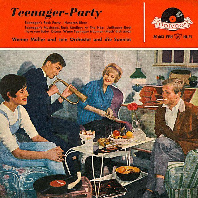 Vintage Teenager-Party vinyl record album cover