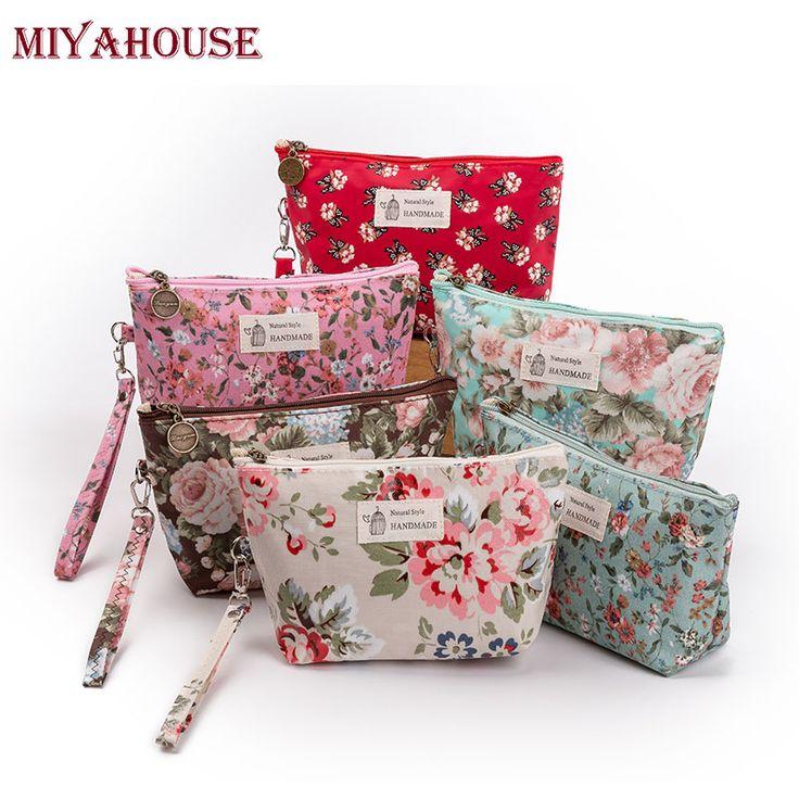 Miyahouse nuevo vintage floral impreso mujeres bolsa bolsa de cosméticos bolsas de maquillaje femenino cremallera cosméticos bolsa de maquillaje bolsa de viaje portátil en Bolsas de cosméticos y Estuches de Maletas y Bolsos en AliExpress.com | Alibaba Group