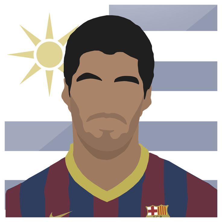 Suarez   #FCB #Barca #Barcelona #Suarez #LaLiga #Uruguay #LFC #Liverpool #CampNou #Spain #Espana #Messi #Neymar #Football #Sport #LuisSuarez #Design #Futbol #Illustrator #Photoshop #Vector #UCL