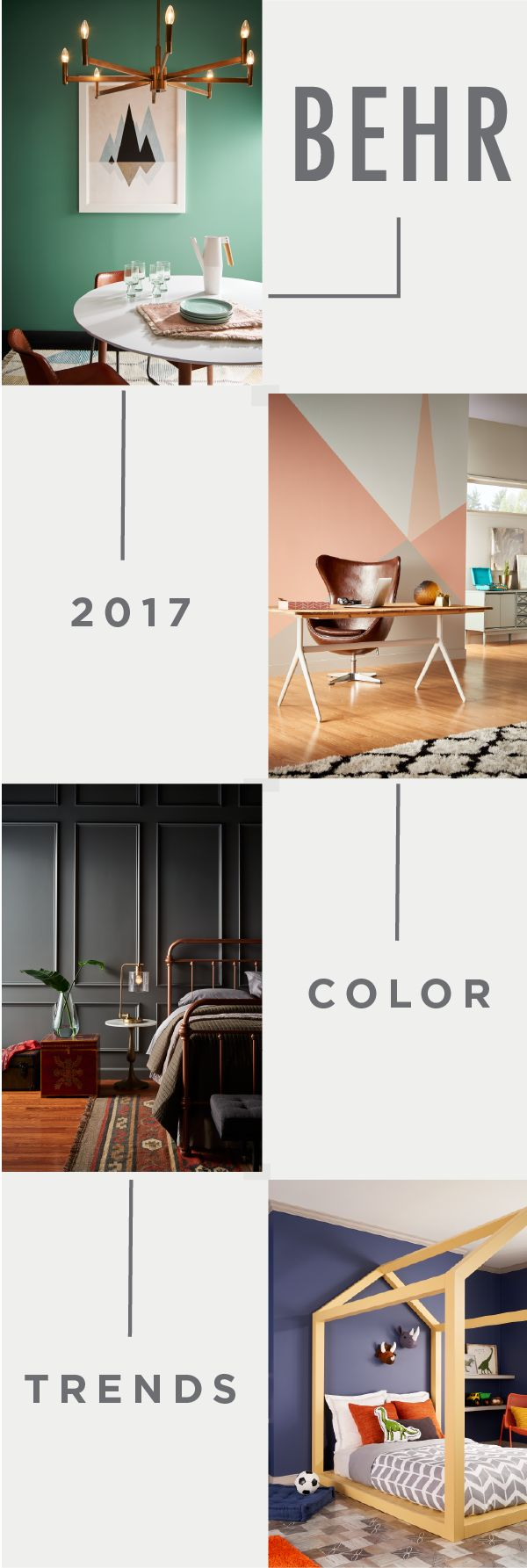 Learn About Behr S 2017 Color Trends And See Images That Will Help Inspire Your Interior Design Projects This Year