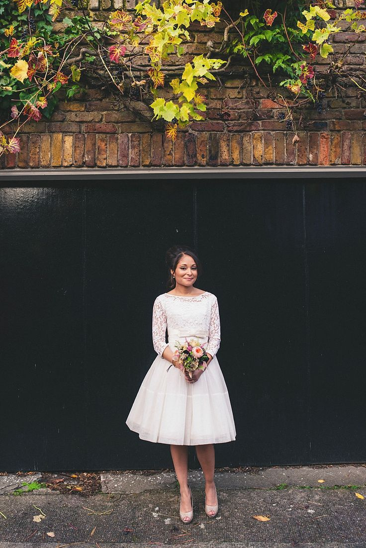 A 60′s Vintage Frock and Fur Stole for a Relaxed Camden Pub Wedding | Love My Dress® UK Wedding Blog