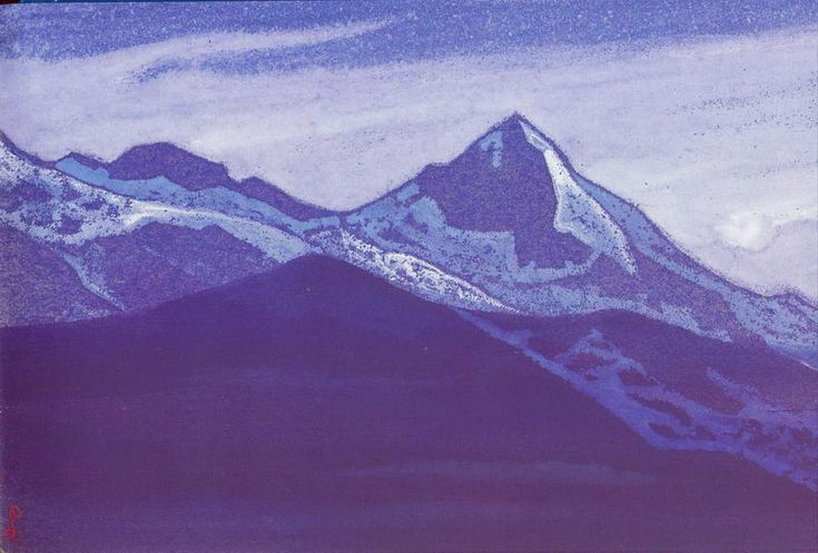 Mount of five treasures (Two worlds) - Nicholas Roerich - WikiPaintings.org