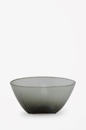 Irregular glass bowl