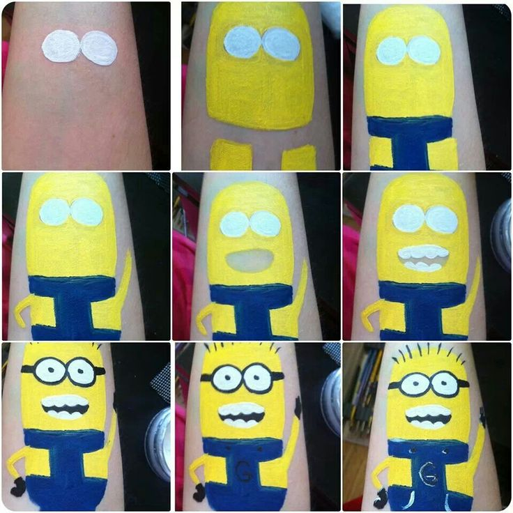 Minion tatoo step by step