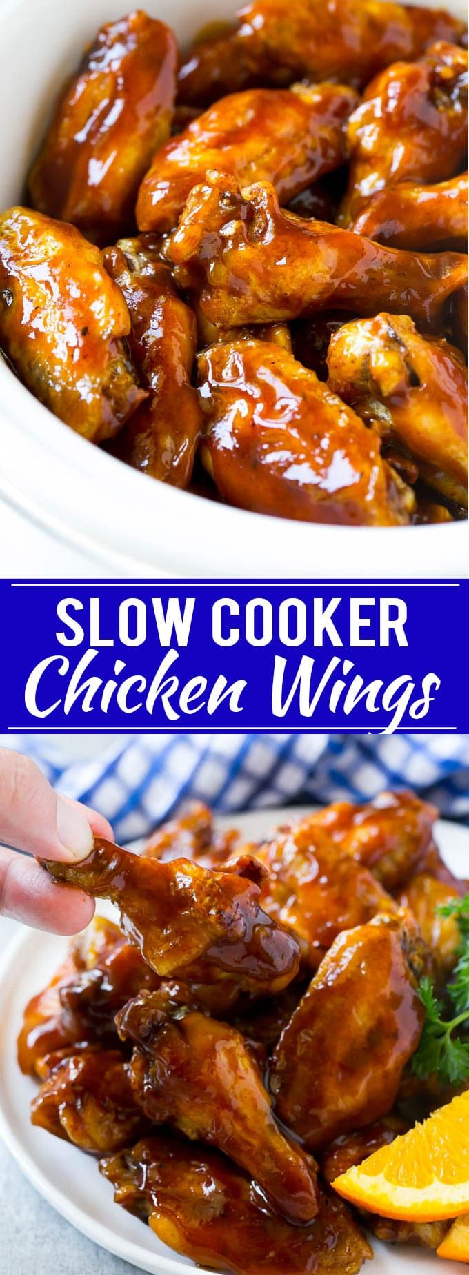These slow cooker party wings are perfect for tailgating or any other summer celebration! #GrabGoWow #ad @Walmart