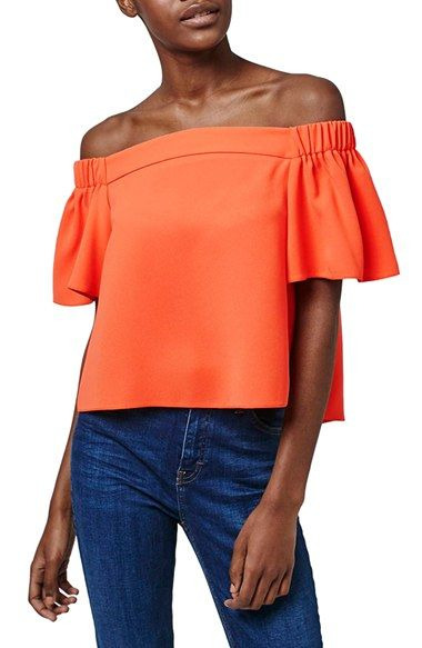 Topshop 'Livi' Off the Shoulder Top (Regular & Petite)