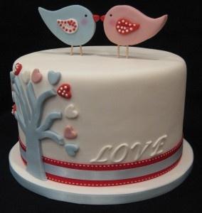 Love birds cake - 5th year Anniversary
