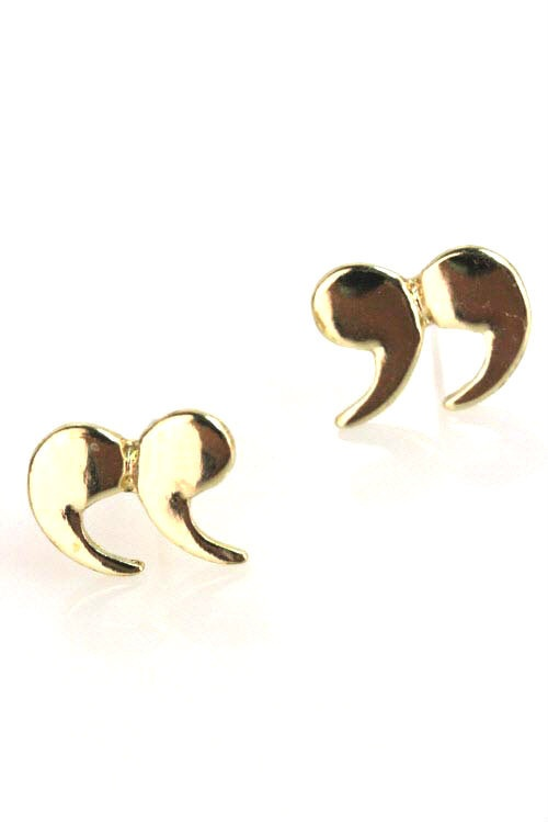 Air Quotes Studs