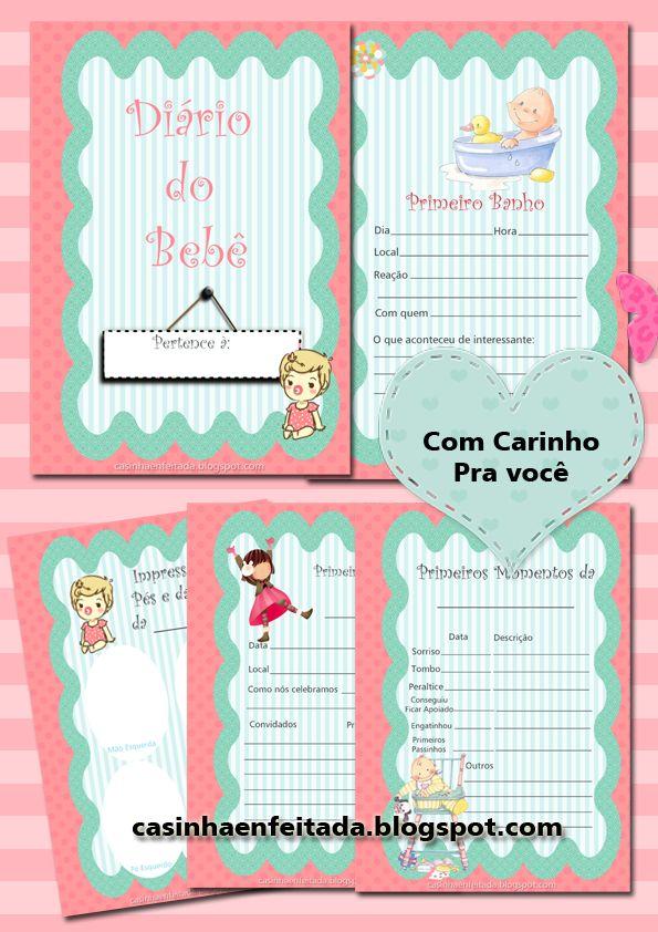 Diário do Bebê Menina Para Imprimir (Grátis)