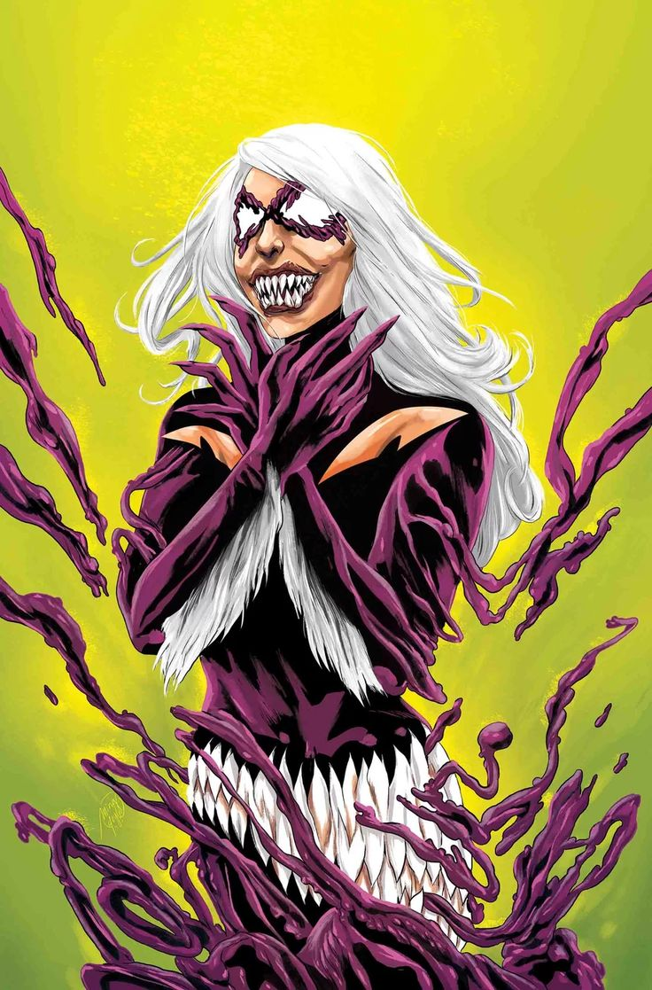 Spider-Man #20 (2017) Black Cat Venomized Variant Cover by Ming Doyle