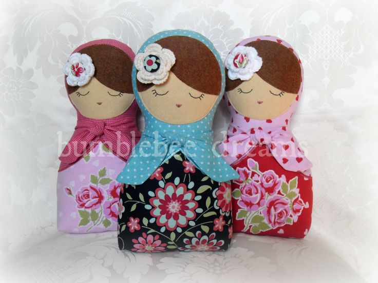 Handmade Babushka Dolls www.facebook.com/bumblebeedreams