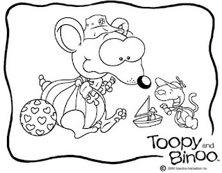 Free Toopy And Binoo Colouring Page