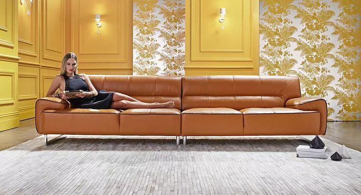 Harper leather lounge