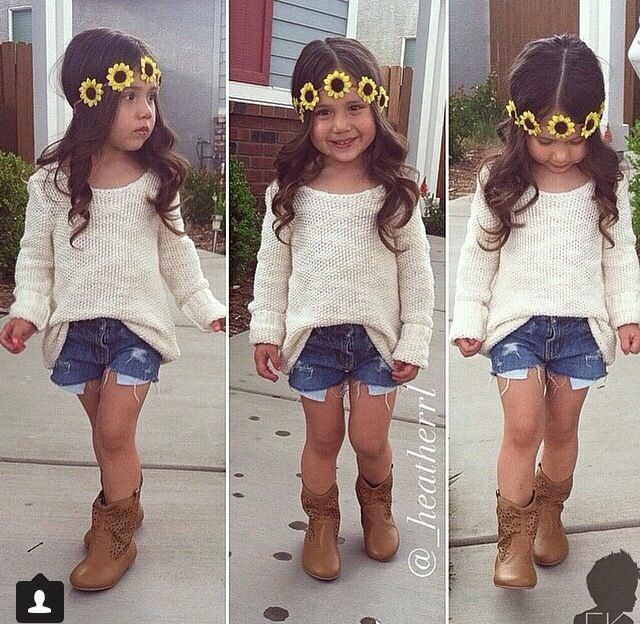 How cute is this? Love ♡ with the shorts a little longer... & no headband