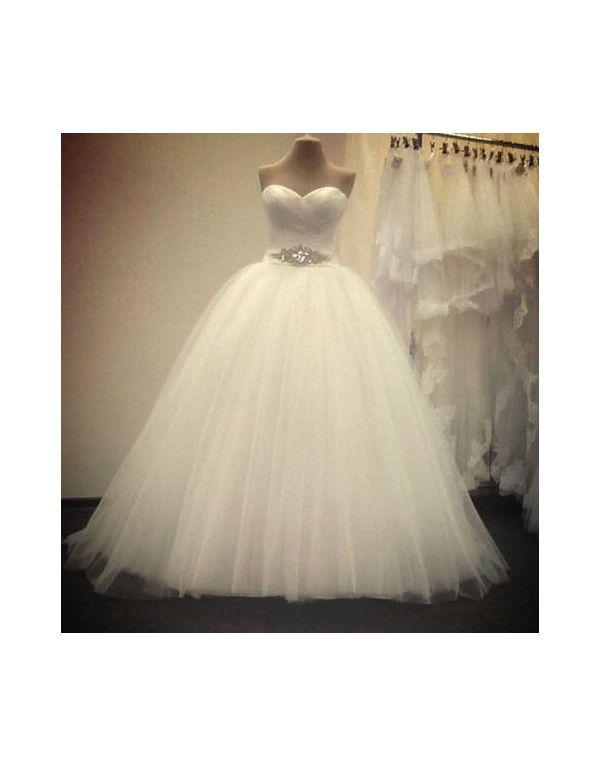 luxusní tylové svatební šaty se štrasovým zdobením Rebecca S-M - Hollywood Style…