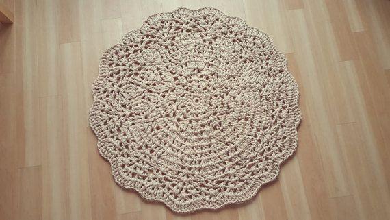 Karnemelk 38/ 965 cm gehaakte Doily tapijt door olgaconstantinova