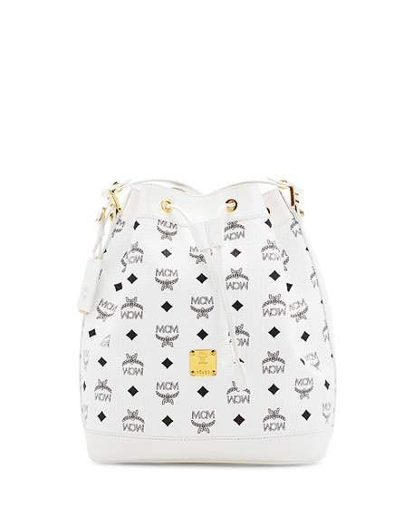 Heritage Small Drawstring Bag, White