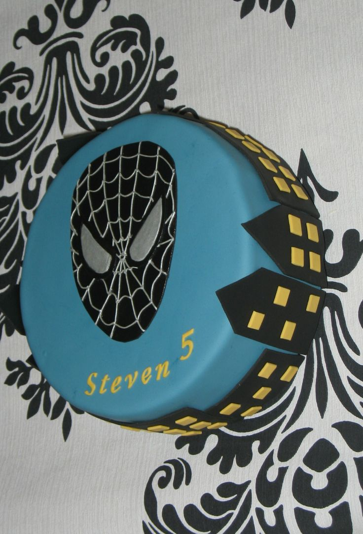 Black spiderman cakes - photo#29