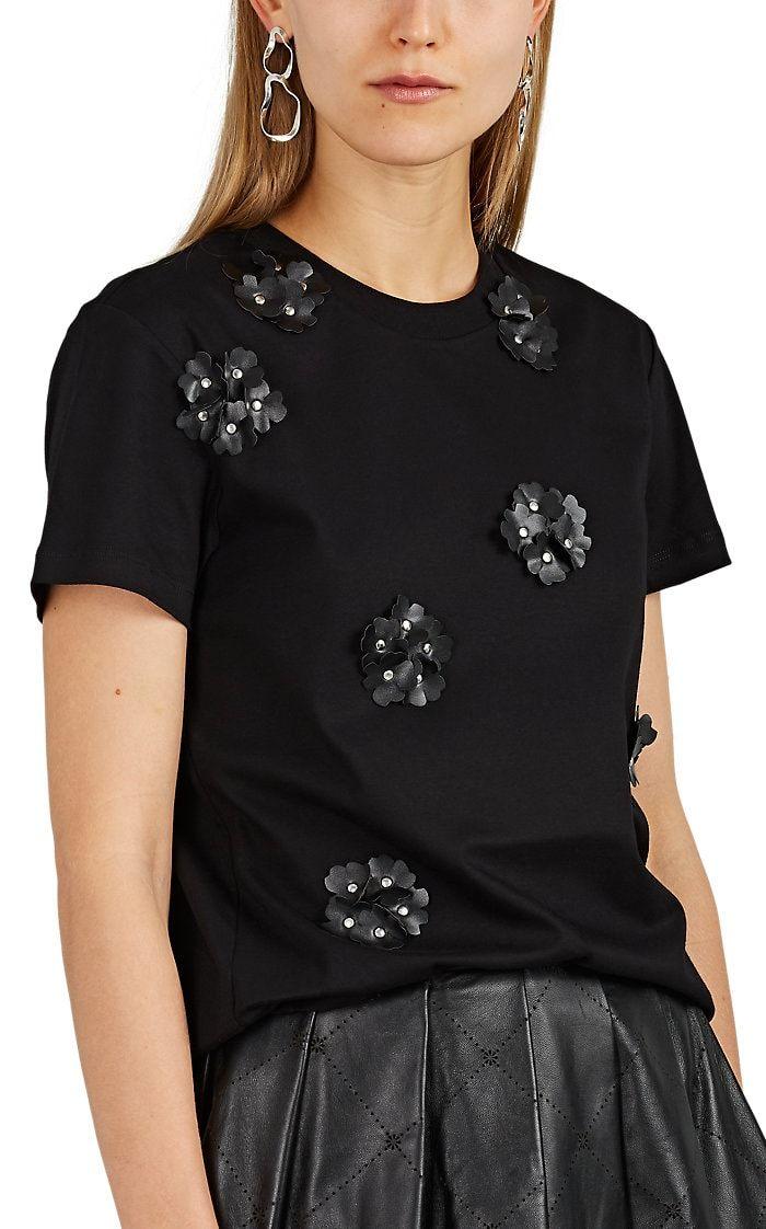 d7990e3f9 6 MONCLER NOIR KEI NINOMIYA Embellished Cotton Jersey T-Shirt ...
