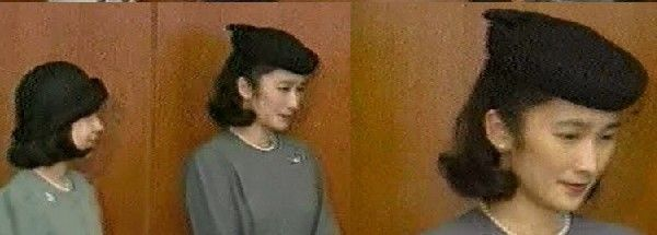 1993 8 6 ベルギー国王葬儀参列のため御出発される天皇皇后両陛下をお見送りする紀子妃殿下と紀宮殿下と徳仁雅子連結画像 (11)