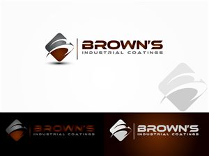 company name browns industrial coatings bold masculine logo design by dan99 - Design Names Ideas