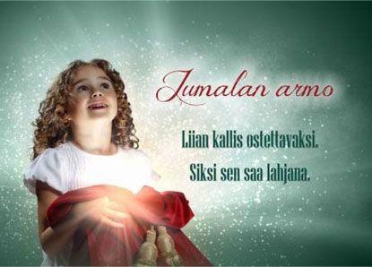 Joulukortti - Jumalan armo