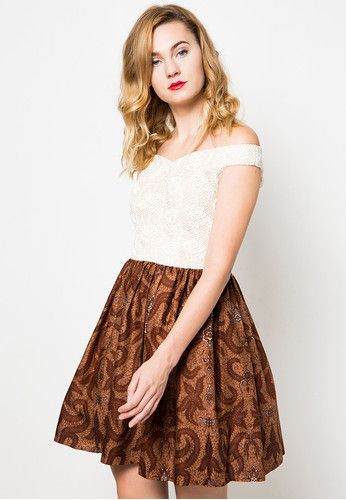 Nilam Batik Brown Dress Dhievine is now available at zalora.co.id