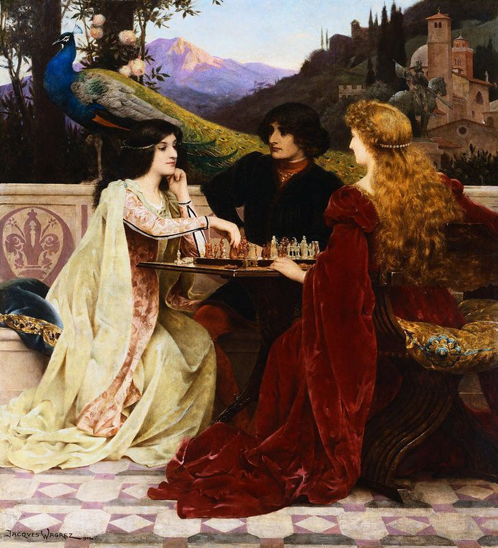 Jacques Clément Wagrez - The Chess Players