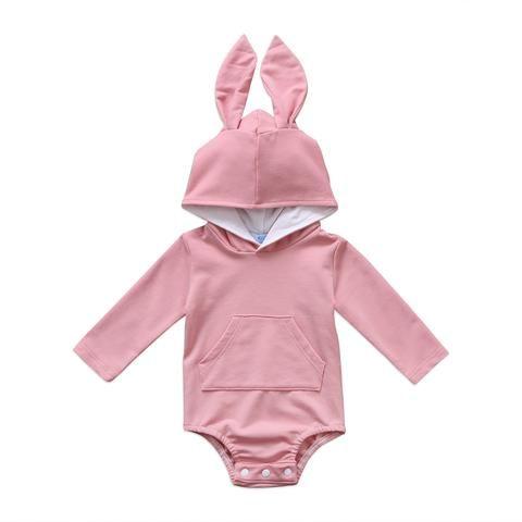f6be0dd8bc11 Newborn Infant Baby Boy Girl Long Sleeve Pocket Hoodies 3D Rabbit ...