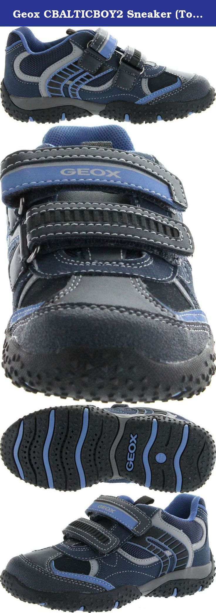 """Geox CBALTICBOY2 Sneaker (Toddler/Little Kid/Big Kid),Navy/Light Blue,26 EU (9 M US Toddler). Geox is an Italian brand that has made a big name for itself in international markets. They are known for their patent technology which makes amazing """"shoes that breathe."""" Geox shoes have a patented sole which allows for sweat to leave through tiny holes on the sole of the shoe. It does all of this while maintaining a waterproof membrane in the sole to disallow water from getting in. Geox has…"""