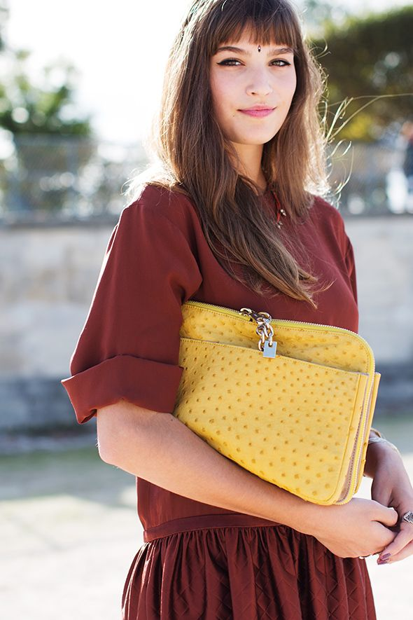 nice sleeves and colour combo @ The Sartorialist