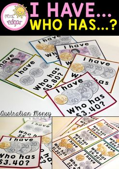 Australian Money: I Have, Who Has? contains 24 playing cards with clear pictures of different monetary amounts up to the value of 10 dollars. These cards help students practise and revise counting different monetary values up to $10 and will assist with fluency.