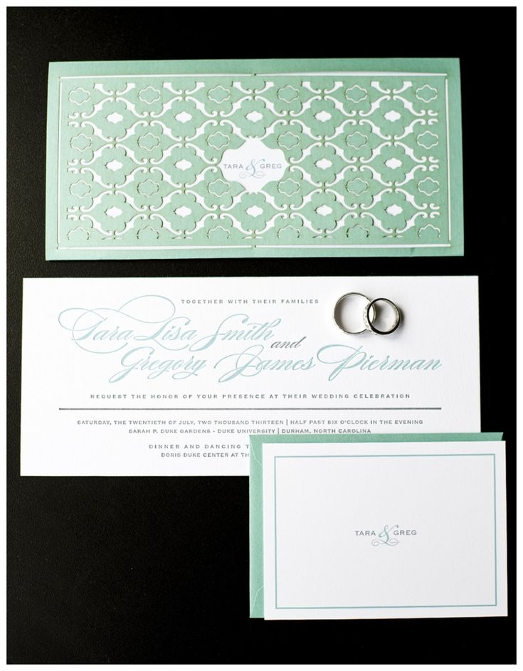 Tiffany Blue wedding invites
