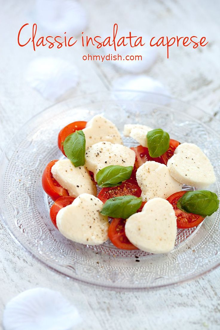 Make a romantic gesture to your loved one by quickly making this classic insalata caprese salad. Lovely valentines day recipe for 2 people.