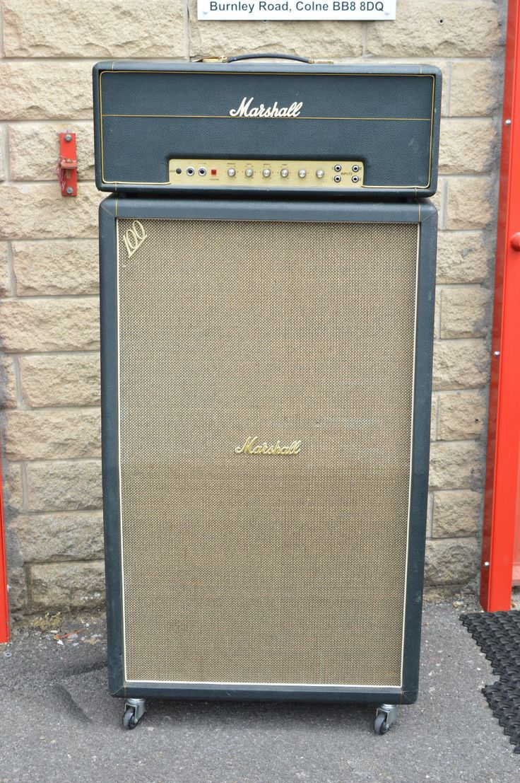 1969 Marshall Super Lead 100 with Matching 4x12 Tall Cabinet