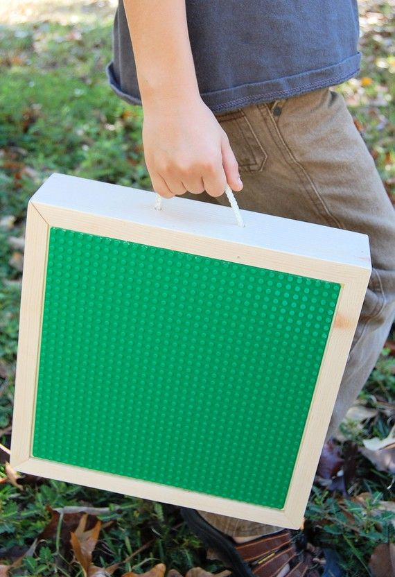 Portable Lego Storage Box... maybe even use those small wooden puzzle boxes.