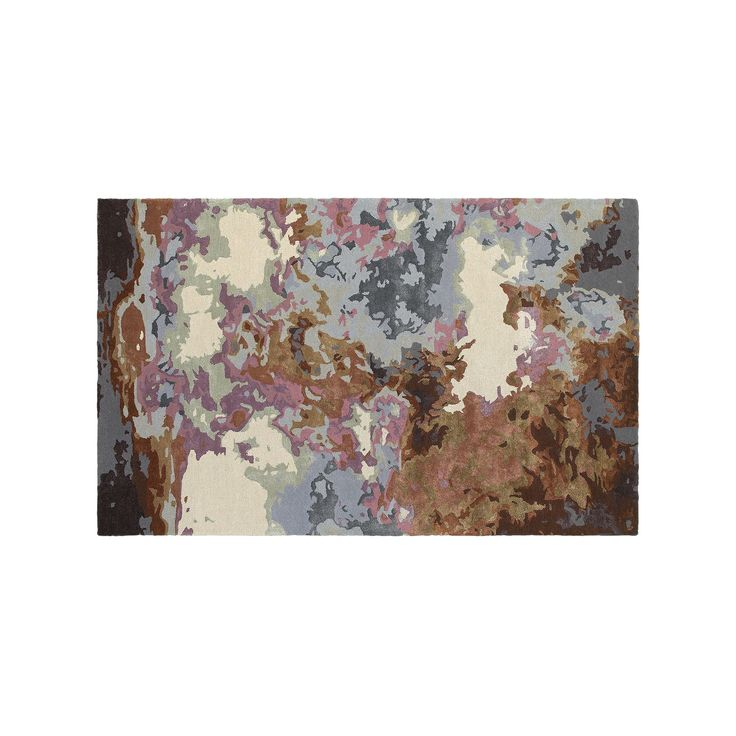 Oriental Weavers Galaxy Fluidity Abstract Wool Blend Rug, Brown Over