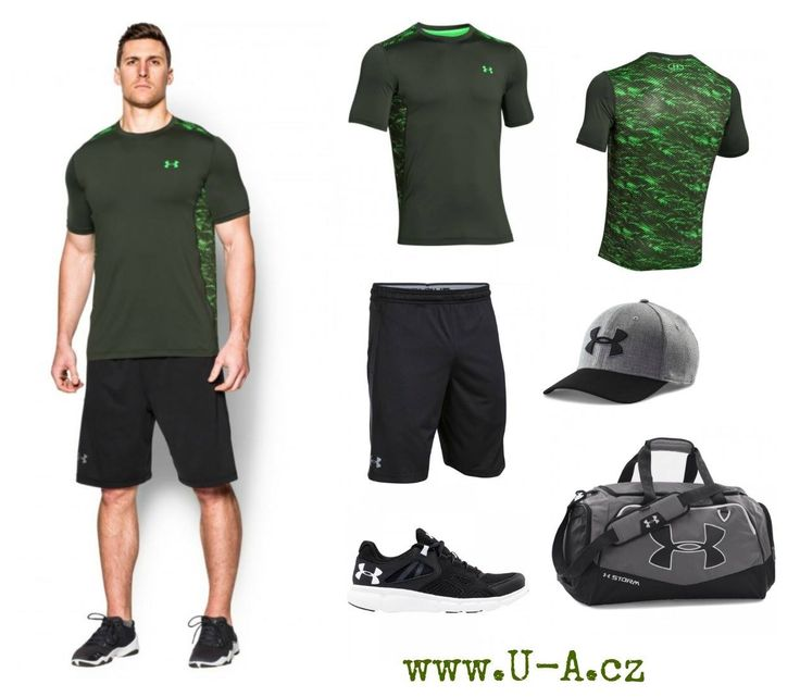 Pánský khaki outfit Under Armour