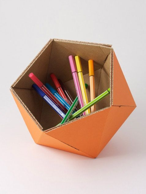 cardboard basket orange