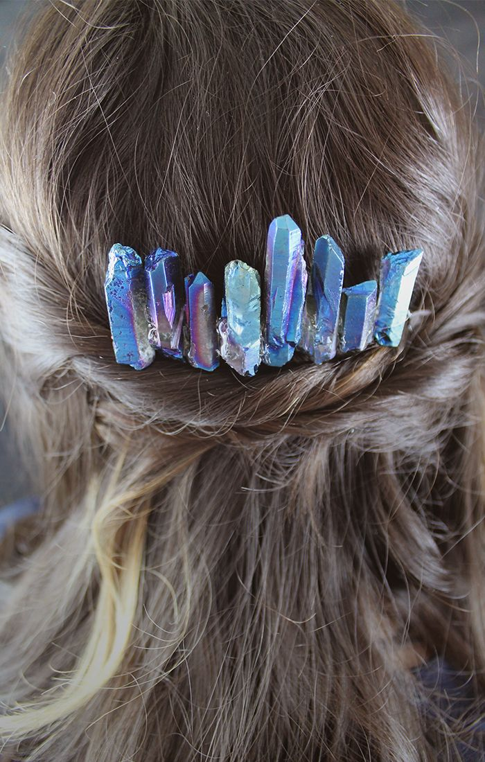 DIY / Lightsaber Crystals Hair Comb | Love this idea!