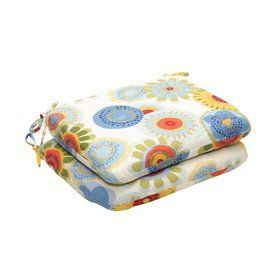 Pillow Perfect Crosby Multicolored Floral Seat Pad For Universal 45044