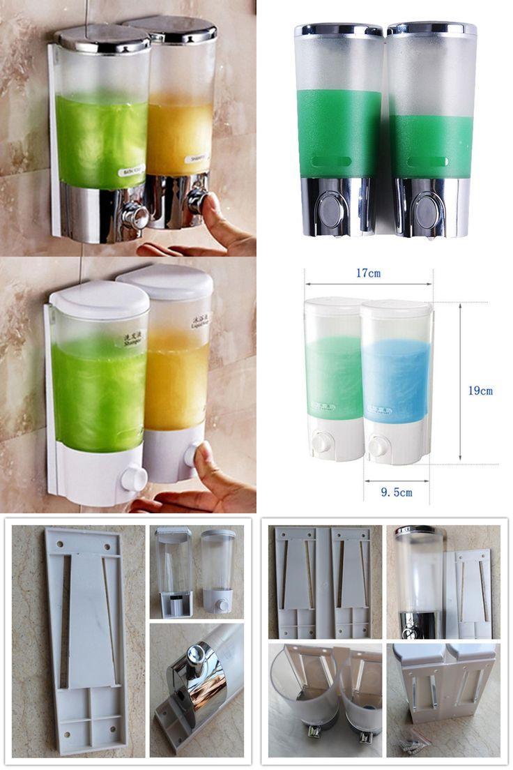 [Visit to Buy] Distributeur De Savon Liquide Mural Kitchen Shampoo Shower Soap Dispenser Wall Hand Liquid Soap Dispenser For Bathroom Washroom #Advertisement