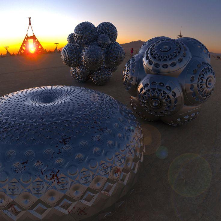Burning Man - ежегодный фестиваль, который стартует в последний понедельник августа и проходит в течение восьми дней в пустыне Блэк-Рок в США (штат Невада). В основе фестиваля заложена идея своеобразного эксперимента, а именно создания сообщества радикального самовыражения. Посреди пустыни возводиться палаточный городок с инопланетными скульптурами и необычными средствами передвижения.